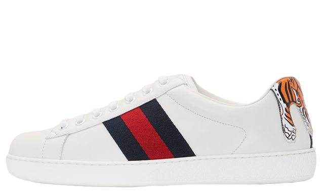 Gucci new ace tiger white